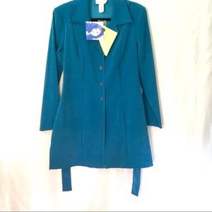 Teal Blue Duster / Long Blazer   - NWT